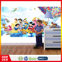 wall putty price cartoon tangled kids wall murals wallpaper self-adhesive kid room design vinyl wallpaper for kids
