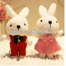 Hot sale stuffed soft plush rabbit toy wedding gifts