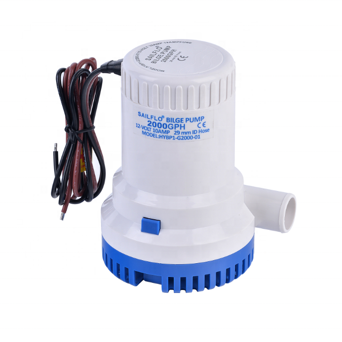 HY-2000 12V 2000GPH high flow marine sea water <strong>pump</strong> for boat kits