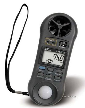 (4 in 1) ANEMOMETER + HUMIDITY METER + LIGHT METER + THERMOMETER - LUTRON TAIWAN in DUBAI UAE UNITED ARAB EMIRATES