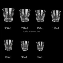 Unbreakable Acrylic Plastic Glasses Cup 1-10 Ounce Round Rocks / Shot Glass for Whiskey, Tequila, Vodka , KTV or Bar use.