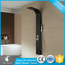 Latest Product Of China Massage Black Hot Stainless Steel Shower Panel