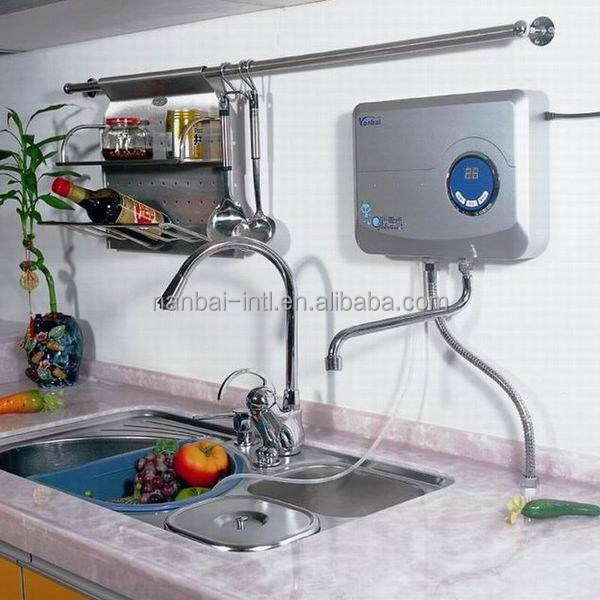 Wall mounted ozonated bottled water with water pipe