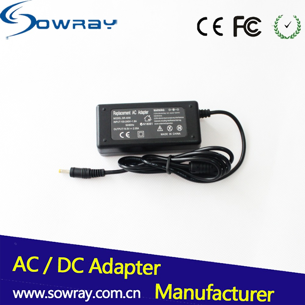 Factory 19V 2.05A Adapter Laptop Charger Yellow Tip AC Adapter For HP