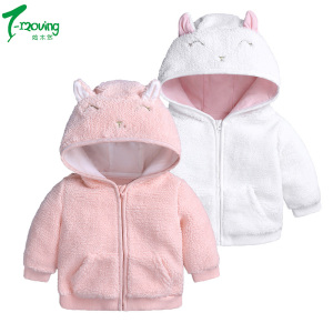 Baby girls winter warm coats cute cotton girl jackets full sleeve