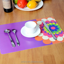 waterproof and flower place mat and eco-friendly pp place mat for kids