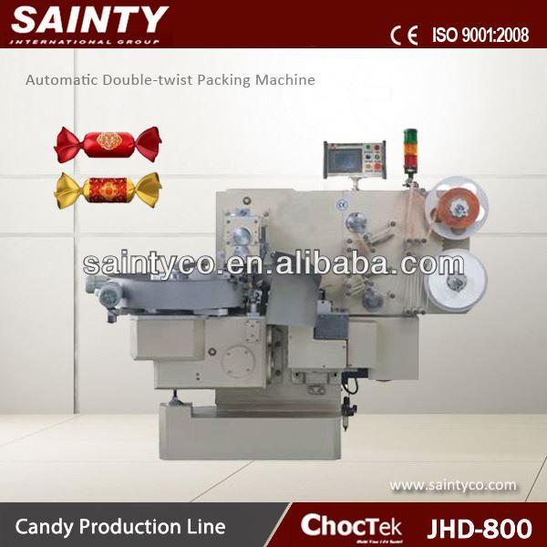 Center Filled Soft Candy Packing Machine JHD800 Automatic Chocolate Twist- Packing Machine