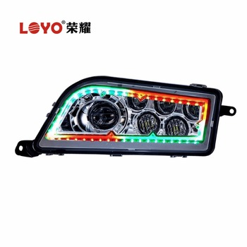 LOYO black chrome RGB ATV UTV led headlight for Polaris RZR 1000 high low beam headlight