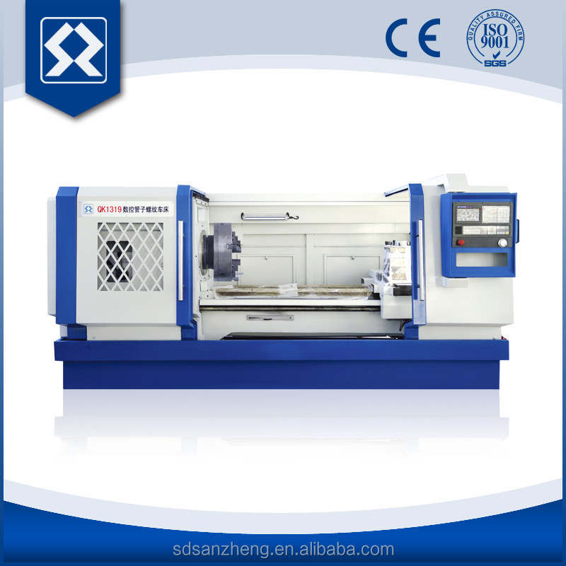 QK1319 Wholesale Heavy Duty Large Bore Lathe Electric Pipe Thread Machine Tools Equipment Price For Process Petroleum Pipeline