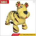 2017 hot sale music coin operated animal ride for kids, amusement park battery operated tiger animal ride