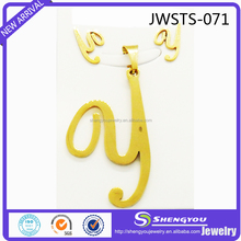 18k Gold Plated Letter y Jewelry Set with Wholesale Price