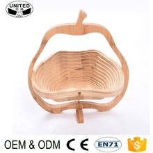 2018 wholesale Kitchen bamboo fruit basket Rack Holder for Home Hotel