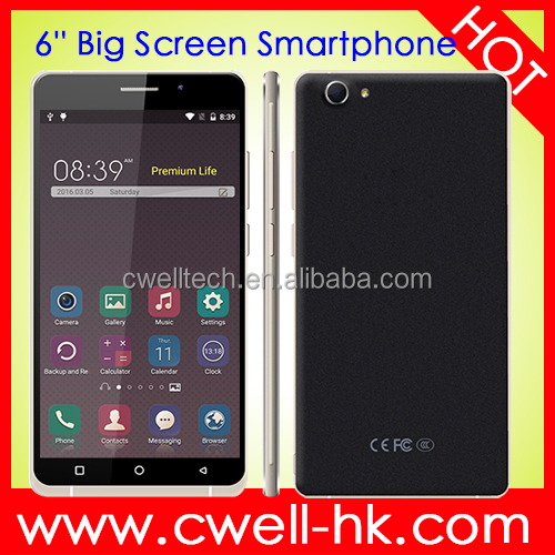 New Phone Android 5.1 Smartphone 6.0 Inch Big Screen X-BO O1 1GB RAM 8GB ROM 3G GPS WIFI Low Price China Mobile Phone