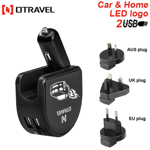Alibaba Shenzhen OEM factory China manufacturer universal dual usb bluetooth car charger