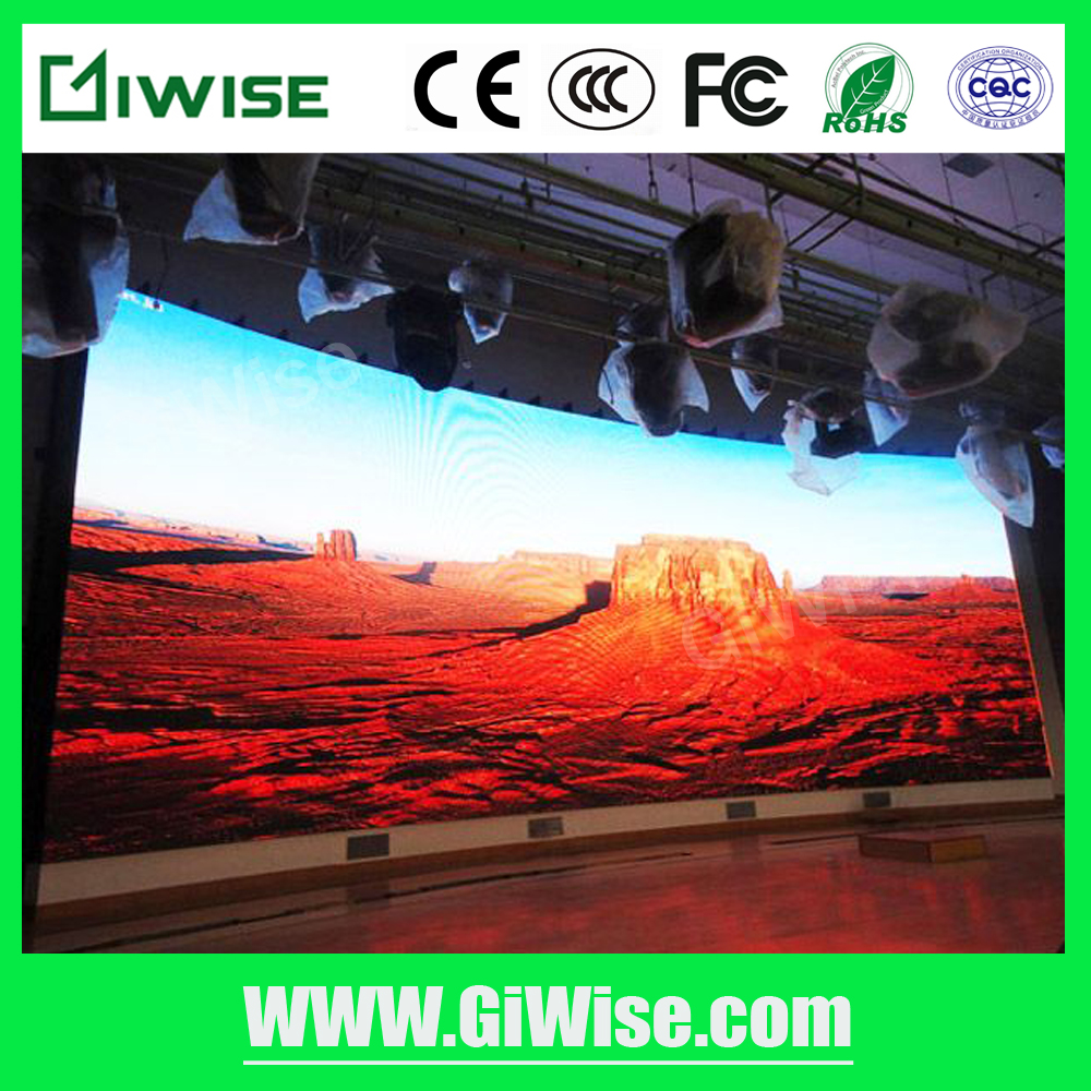 High definition P6 LED display screen indoor of full rgb color big show LED video wall 3 in 1 SMD3528