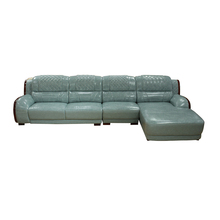 Corner Furniture Couch Living Room Genuine Recliner Italian Leather Sofa