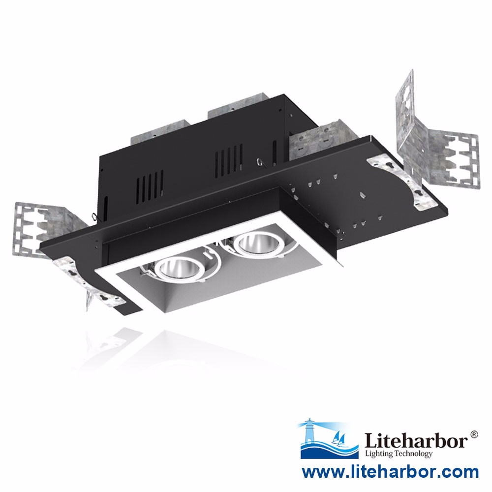 Best sell Recessed Multiple commercial LED Downlight 2 lights ul etl