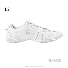 2017 White Professional All-Star cheer training sneakers durable soft sole cheerleading shoes quality cheer shoes for wholsale