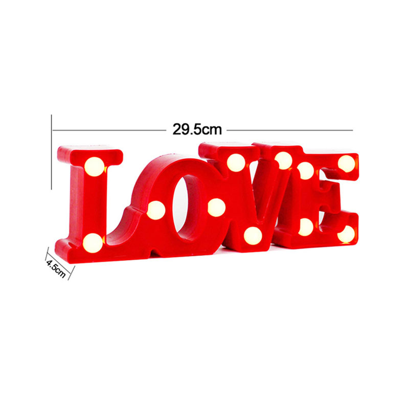 LOVE 3D Night Light LED Standing Lamp Cactus Marquee Letter Lights Children Toys Home Wedding Valentine's Day Decoration