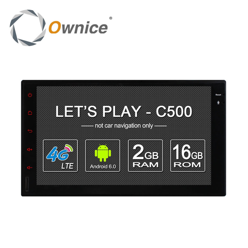 Ownice Android 6.0 Auto DVD GPS Navigation for 2din Universal support 4G SIM LTE
