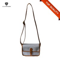 2016 canvas new cross body bags PU shoulder for ladies