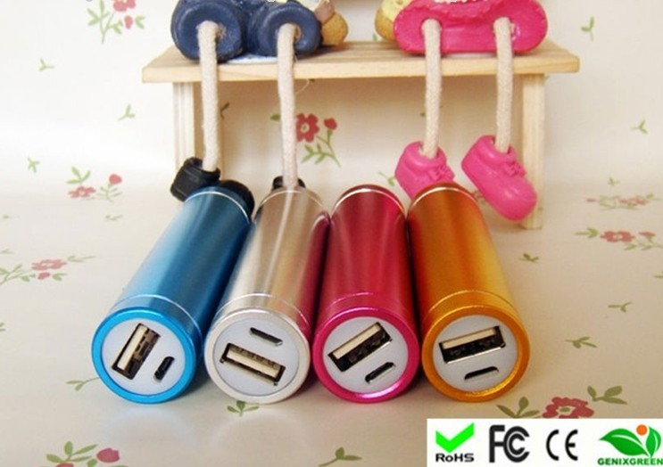 Factory supplier hhigh degree cylinder power bank pocket size mobile power supply 2600mah power bank