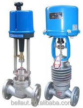 Electric motor globe flow control valve for cement and chemical industry