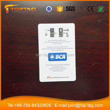 Good price standard CR80 pvc MF S50 rfid hotel key card with led light/rfid tag with led light