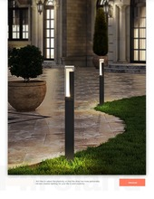 IP65 Exterior cast Aluminum Decorative LED Bollard Light/Outdoor lawn Lamp