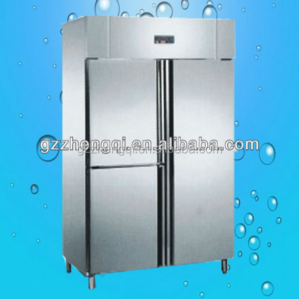 Luxurious stainless steel commercial upright refrigerator/deep upright freezer