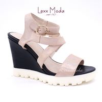 Hot sale comfortable chalaza wedge heel sandals for ladies with high quality