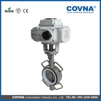 electric gas shut off valve Wafer type electric butterfly valve
