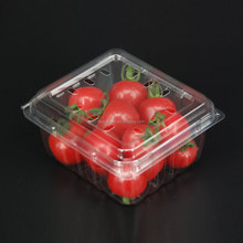 Disposable fruit food tray plastic food container with lid