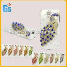 Peacock Crystal Diamond Hard Back Case Cover For Samsung Galaxy S4 i9500