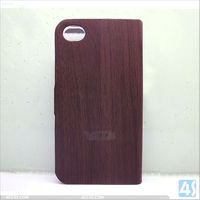 "For iPhone 5"" original Wooden grain leather case cover P-IPH5CASE118"