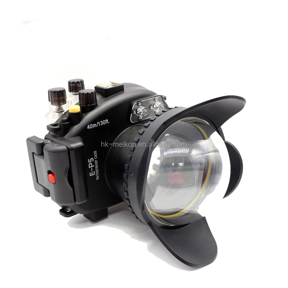Meikon 40M 130FT Digital Camera Waterproof Underwater Housing Case for Olympus EP5, Ideal for outdoor diving sports