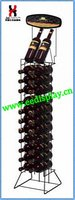 wholesale wire grape wine display stand / flooring wine furniture for retail shop
