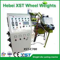machine for wheel weight making