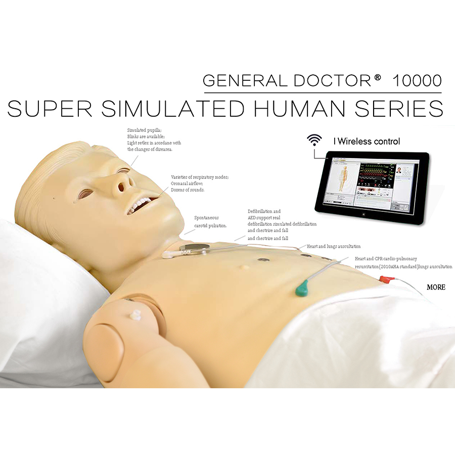 GD/10000 Super Simulated Used Medical Manikins, CPR Simulator