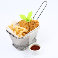 Stainless Steel Fast Food Basket,Mesh Commercial Catering Industry Restaurant Fries Basket,Oil Filter F0051