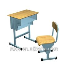 wooden school desk and chair set, hot sale, Zhejiang