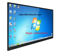 75inch school equipment lcd interactive display transparent glass touch screen