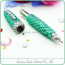 2016 metal crystal body pen diamond jewelled crystal pen oem writing pen with crystal