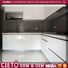 Factory price high gloss coloured kitchen doors flat pack furniture acrylic kitchen cabinet for sale
