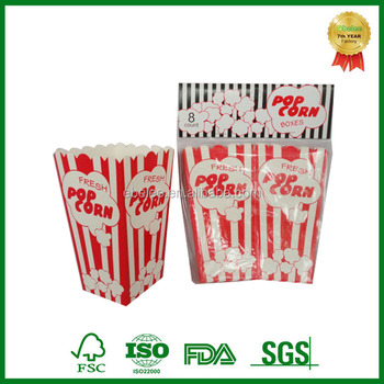 disposable take out custom printed popcorn box