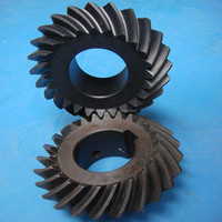 can be customized nylon plastic bevel gears by CNC machining