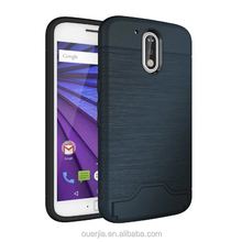 Factory wholesaling card wallet kickstand case for Moto G4, for moto G4 hybrid card case