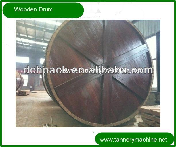 retanning or dyeing wooden drum for cow cattle buffalo skin processing
