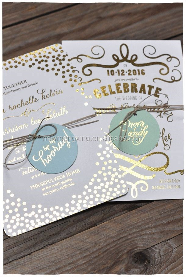 elegant cream and mint gold foil wedding invitations