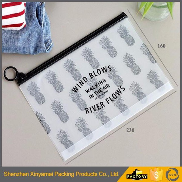 customized printed pvc ziplock plastic packaging bags for clothes/apprael/garment